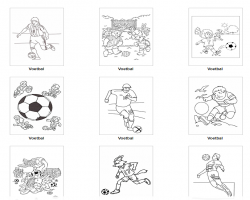 Kleurplaten Alfabetisch.123 Lesidee Voetbal Kleurplaat